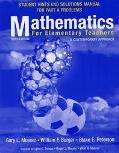 Mathametics for Elementary Teachers A Contemporary Approach