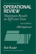 Operational Review: Maximum Results at Efficient Costs, 2000 Supplement, 2nd Edition