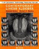 Contemporary Linear Algebra, TI-89 Calculator Technology Resource Manual