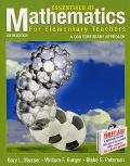 Essentials of Mathematics for Elementary Teachers A Contemporary Approach