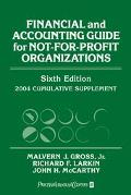 Financial and Accounting Guide for Not-For-Profit Organizations, 2004 Cumulative Supplement