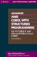 Advanced Ansi Cobol W/struc.programming