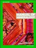 Manual of Mineralogy After James D. Dana