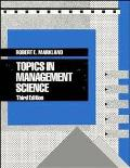 Topics in Management Science