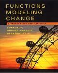 Functions Modeling Change a Preparation for Calculus 2nd Ed + Student Solutions
