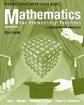 Mathematics For Elementary Teachers A Contemporary Approach, Virginia State Guide Book