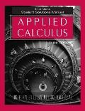 Applied Calculus, Student Solutions Manual , 3rd Edition