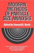 Modern Methods of Particle Size Analysis