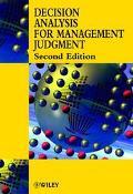Decision Analysis for Management Judgement