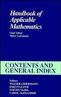 Handbook of Applicable Mathematics: Contents and General Index