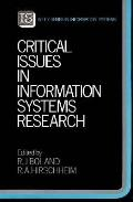 Critical Issues in Information Systems Research (Wiley Information Systems Series)