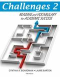 Challenges, Book 2: Reading and Vocabulary for Academic Success