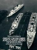 Great Cruise Ships and Ocean Liners from 1954 to 1986 A Photographic Survey