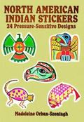 North American Indian Stickers 24 Pressure-Sensitive Designs