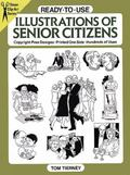 Ready-To-Use Illustrations of Senior Citizens Copyright-Free Designs, Printed One Side, Hund...