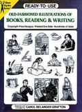 Ready-To-Use Old-Fashioned Illustrations of Books, Reading & Writing Copyright-Free Designs,...