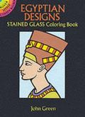 Egyptian Designs Stained Glass Coloring Book