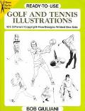 Ready-to-Use Golf and Tennis Illustrations; 105 Different Copyright-Free Designs Printed One...