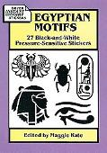 Egyptian Motifs 27 Black-And-White Pressure-Sensitive Stickers