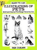 Ready-To-Use Illustrations of Pets 96 Different Copyright-Free Designs Printed One Side