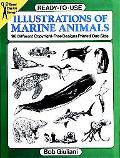 Ready-To-Use Illustrations of Marine Animals 96 Different Copyright-Free Designs Printed One...