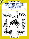 Ready-To-Use Cowboy and Western Illustrations 99 Different Copyright-Free Designs Printed 1 ...