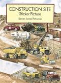 Construction Site Sticker Picture With 52 Reusable Peel-And-Apply Stickers