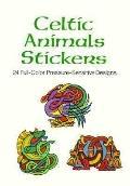 Celtic Animals Stickers 24 Full-Color Pressure-Sensitive Designs