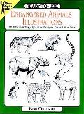 Ready-To-Use Endangered Animals Illustrations 96 Different Copyright-Free Designs Printed On...