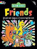Sesame Street Friends Stained Glass Coloring Book