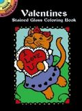 Valentines Stained Glass Coloring Book