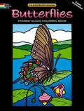 Butterflies Stained Glass Coloring Book: Deluxe Edition with 48 Stained Glass Sheets (Staine...