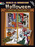 Build a Window Stained Glass Coloring Book--Halloween (English and English Edition)
