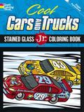 Cool Cars and Trucks Stained Glass Jr. Coloring Book