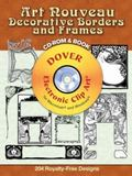 Art Nouveau Decorative Borders and Frames CD-ROM and Book