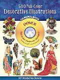 500 Full-Color Decorative Illustrations