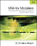 Vba for Modelers Developing Decision Support Systems Using Microsoft Excel