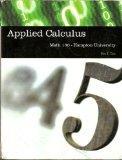 Applied Calculus: Math 130-Hampton University