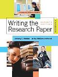 Writing the Research Paper: A Handbook, 2009 MLA Update Edition
