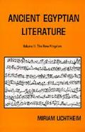 Ancient Egyptian Literature, a Book of Readings The New Kingdom