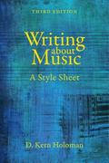 Writing about Music : A Style Sheet