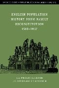 English Population History from Family Reconstitution 1580v1837
