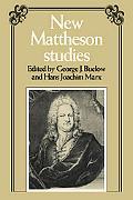 New Mattheson Studies