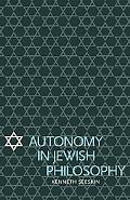 Autonomy in Jewish Philosophy