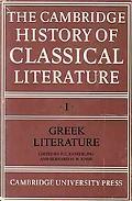 Cambridge History of Classical Literature Greek Literature