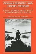 German Aesthetic and Literary Criticism: Kant, Fichte, Schelling, Schopenhauer, Hegel