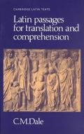 Latin Passages for Translation and Comprehension