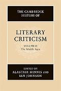 The Cambridge History of Literary Criticism, Vol. 2
