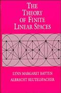 Theory of Finite Linear Spaces Combinatorics of Points and Lines