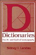 Dictionaries:art+craft of Lexicography